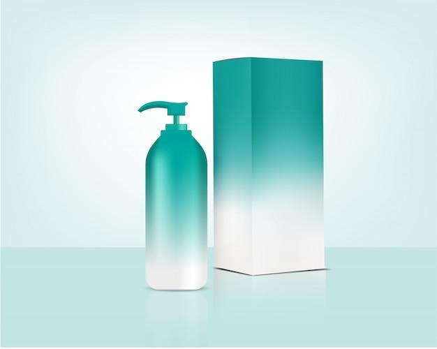 Pastel bottle pump реалистичная органическая косметика и коробка для ухода за кожей