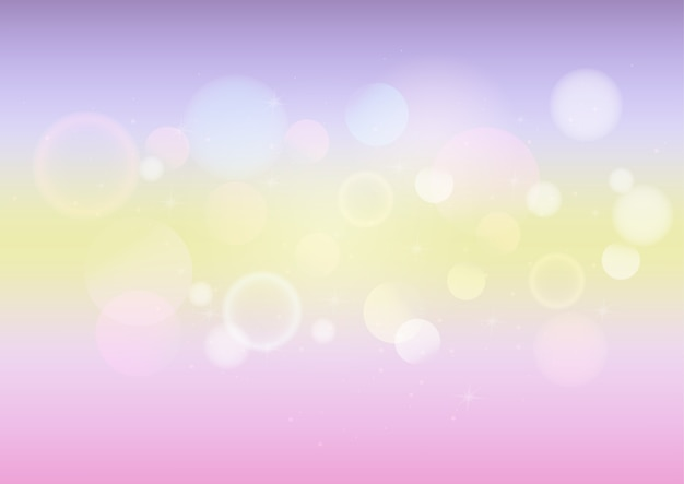 Pastel color abstract background with bokeh