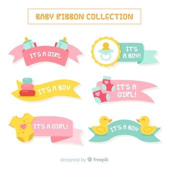 Pastel color baby ribbon collection