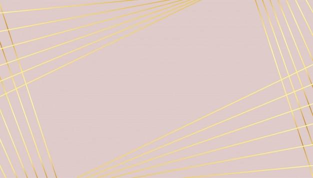 Sfondo di colore pastello con design a linee dorate