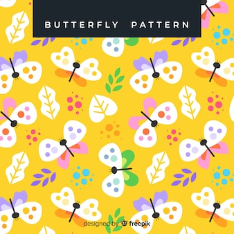Pastel color butterflies pattern