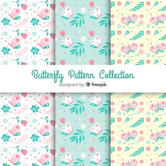 Pastel color butterfly pattern