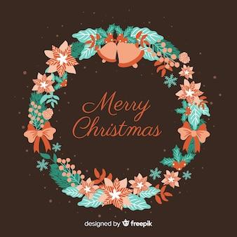Pastel color christmas wreath