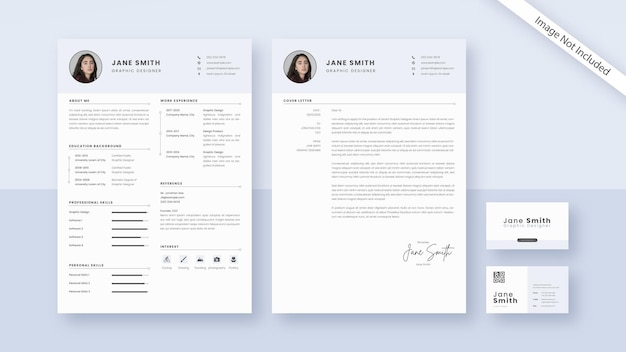 Pastel color cv resume cover letter and business card