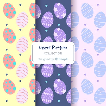 Pastel color easter egg patterns