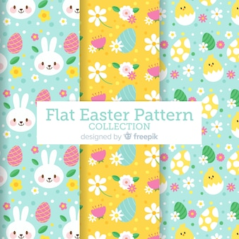 Pastel color easter pattern collection