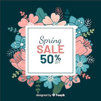 Pastel color floral spring sale background