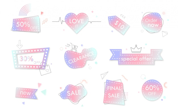 Pastel color sale banners