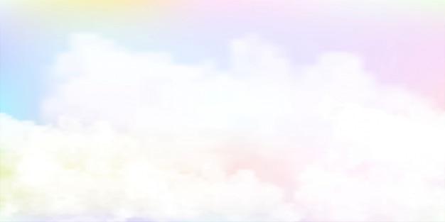 パステルカラーの空の水彩画の背景