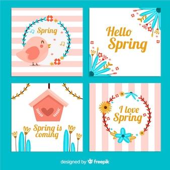 Pastel color spring card pack