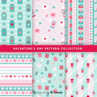 Pastel color valentine pattern collection