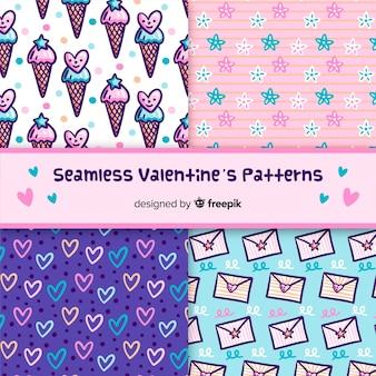 Pastel color valentine pattern pack
