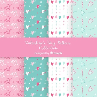 Pastel color valentine patterns