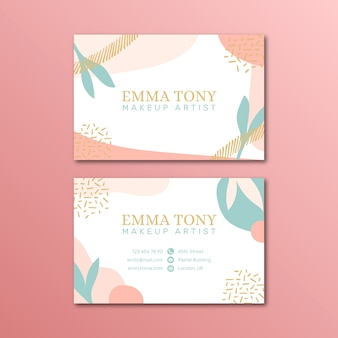 Pastel-colored business card template