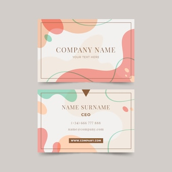 Pastel colored business card template