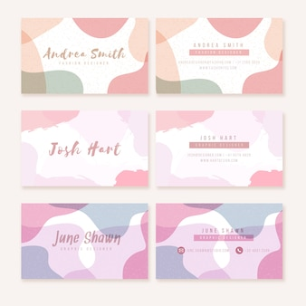 Pastel colored business card templates