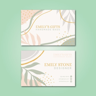 Pastel-colored business card