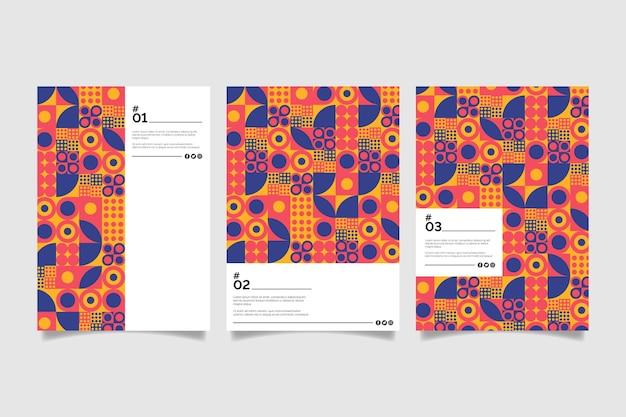 Collezione di copertine aziendali geometriche colorate pastello