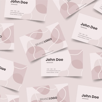 Pastel-colored stains on business card template