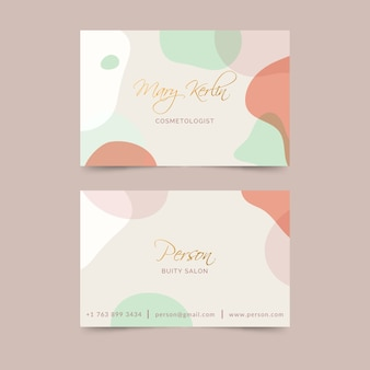 Pastel-colored stains for business card
