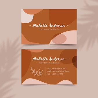 Pastel-colored stains design for business card
