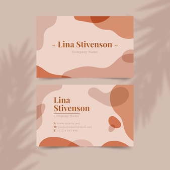 Pastel-colored stains theme for business card
