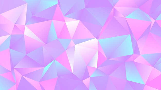 Pastel colorful crystal low poly background