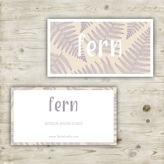 Pastel colors business card design