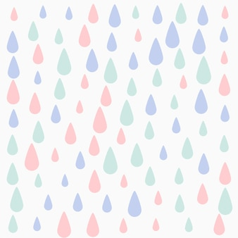 Pastel colors falling drops pattern background design
