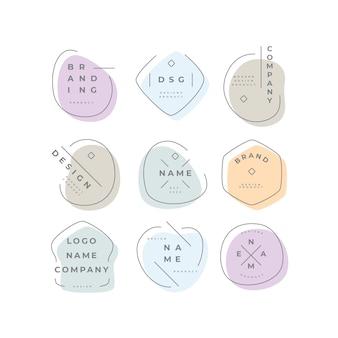 Набор логотипов в пастельных тонах