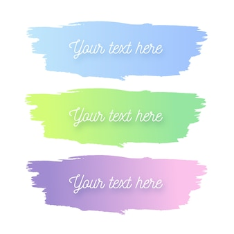 Pastel colors watercolor strokes kit