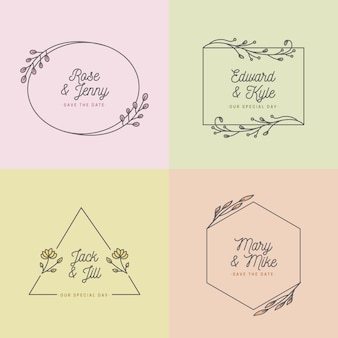 Pastel colors for wedding monograms concept