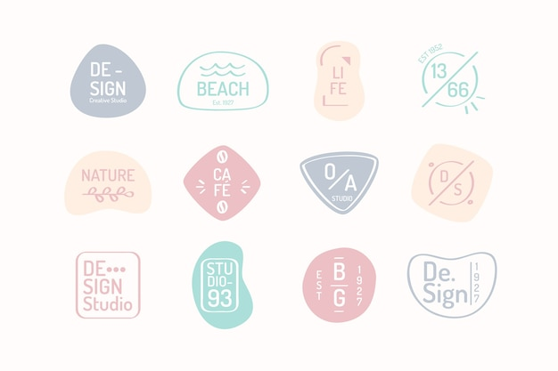 Pastel colour tones business logo template