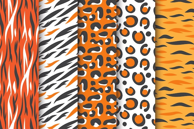 Pastel coloured animal print seamless pattern