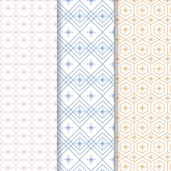 Pastel coloured minimal geometric pattern template