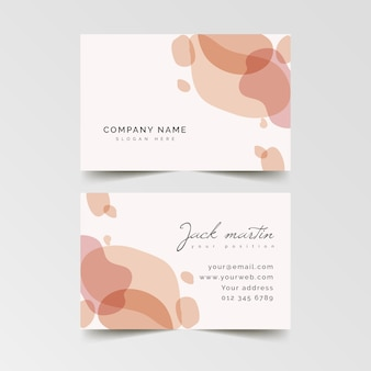 Pastel-coloured pink stains business card