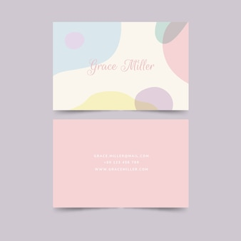 Pastel-coloured stains business card template