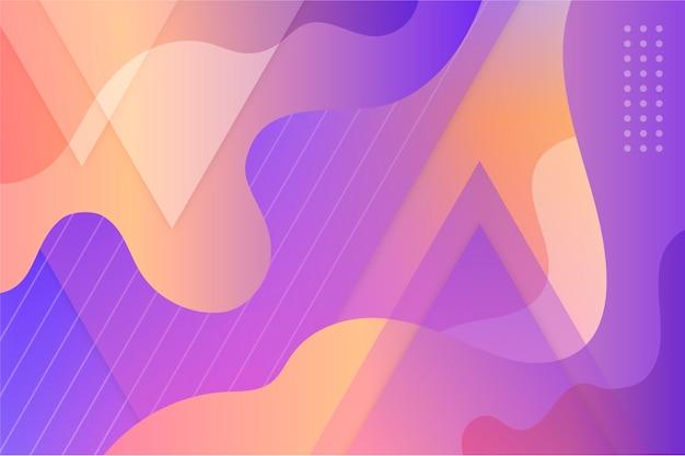 パステルカラーのメンフィスと抽象的な背景