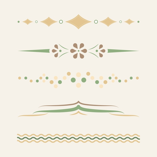 Pastel dividers design collection vector