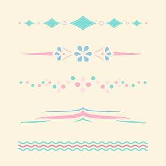 Pastel dividers design collection