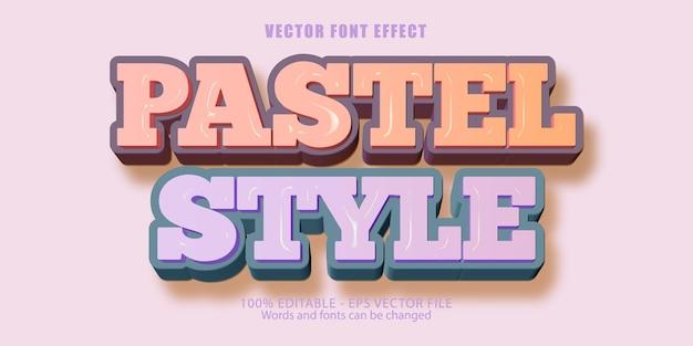 파스텔 편집 가능한 텍스트 효과 플라스틱 스타일