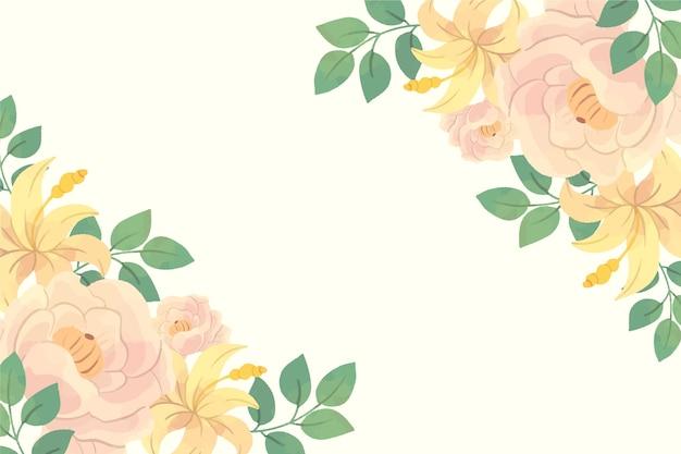 복사 공간 파스텔 꽃 배경