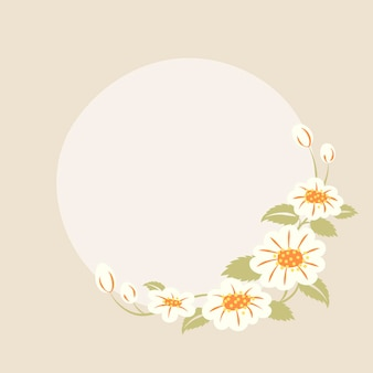 파스텔 꽃 프레임, 벡터, 귀여운 그림
