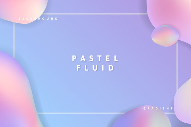 Pastel fluid background