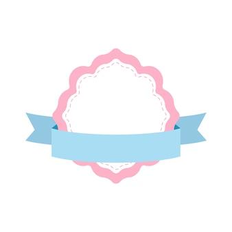Pastel frame badge design