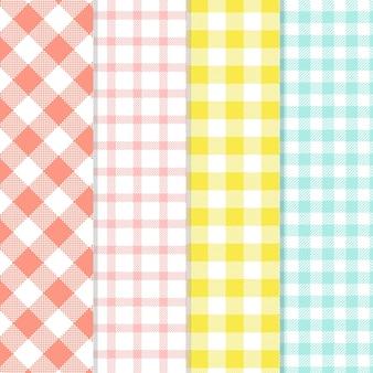 Collezione di pattern di percalle pastello