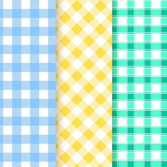 파스텔 깅엄 패턴 컬렉션