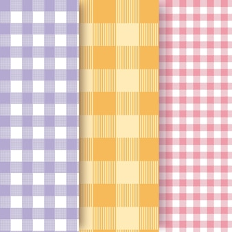 Pastel gingham pattern collection