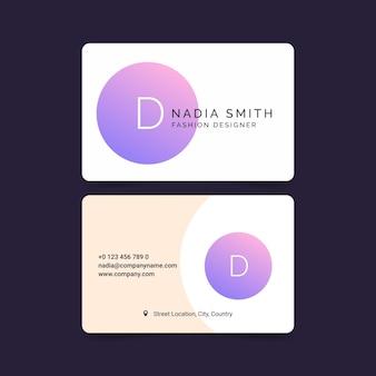 Pastel gradient business card theme