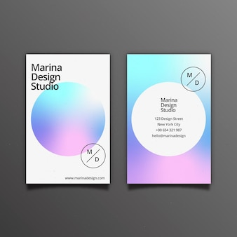Pastel gradient business card